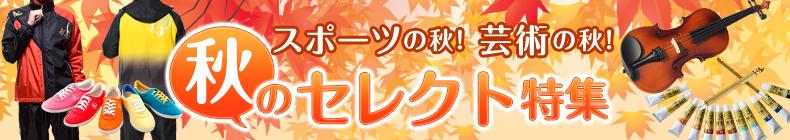 スポーツの秋!芸術の秋!秋のセレクト特集